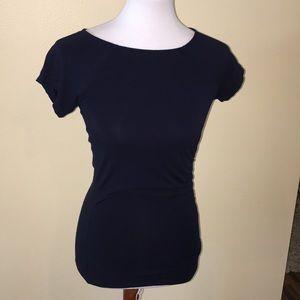 Ralph Lauren navy blue shirt sleeves top size S/P